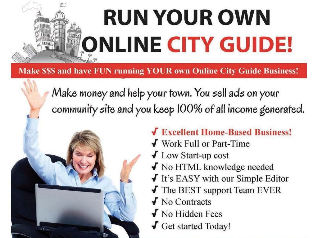Cityusa Run Your Own Online City Guide And Make Money Advertising Services Business Opportunities Home Based Businesses