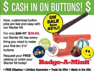 Cash in on Buttons with Badge-A-Minit