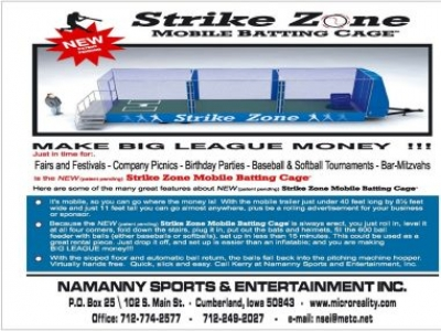 Strike Zone Mobile Batting Cage